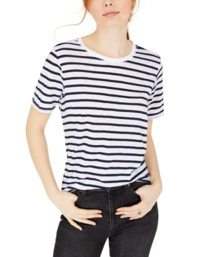 Sailor Dresses, Nautical Theme Dress, WW2 Dresses Splendid Zoe Striped T-Shirt $54.00 AT vintagedancer.com