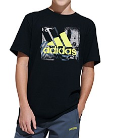 Big Boys Stencil Art Cotton T-Shirt