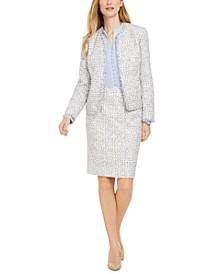 Tweed Jacket, Blouse & Pencil Skirt