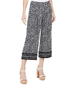 Animal-Print Border Pants, Regular & Petite
