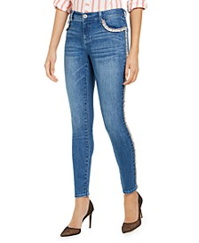 INC Tweed-Trim High-Rise Skinny Jeans, Created for Macy's
