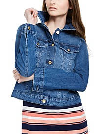 Cotton Denim Jacket, Regular & Petite