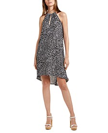 Animal Print High-Low Dress