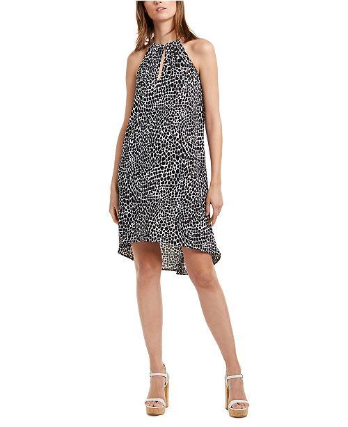 Michael Kors Animal Print High-Low Dress