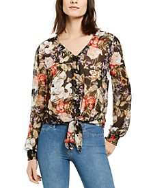 INC Floral Button-Up Blouse, Created for Macy's