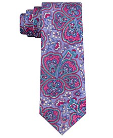Men's Botanical Paisley Silk Slim Tie