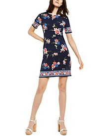 Floral-Print Dress, Regular & Petite