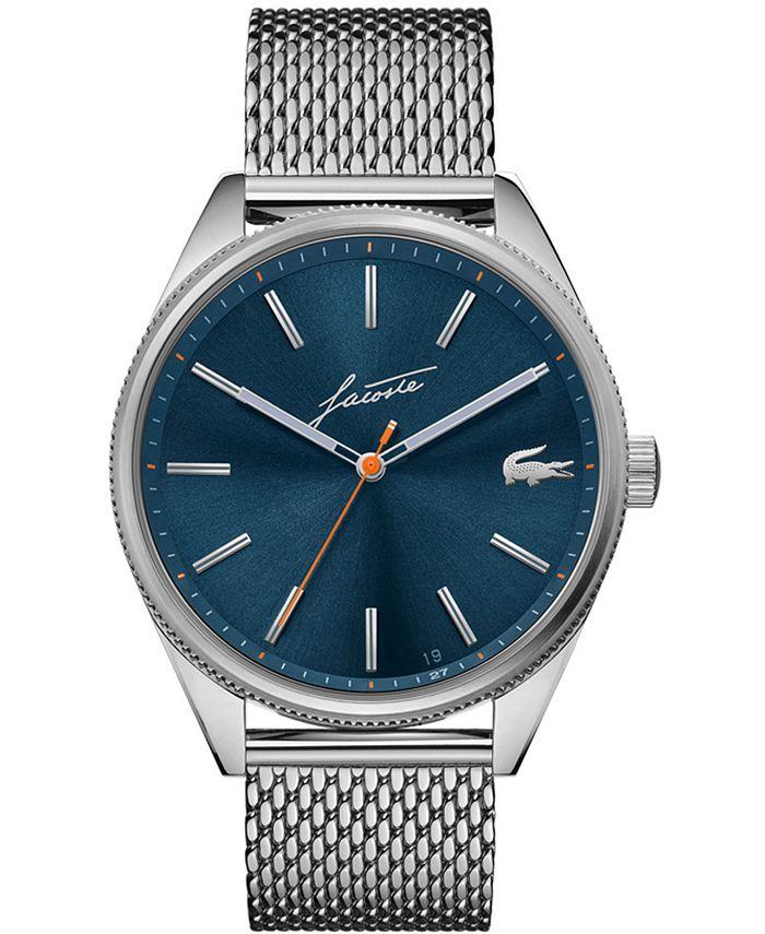 Lacoste - Men's Heritage Stainless Steel Mesh Bracelet Watch 42mm