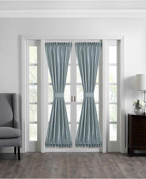 "Elrene Colette Faux Silk 54"" x 72"" French Door Window Panel"