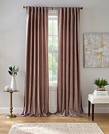 "Carnaby 50"" x 84"" Distressed Velvet Curtain Panel"