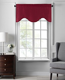 "Colette Faux Silk Scalloped Window Valance, 50""x21"""