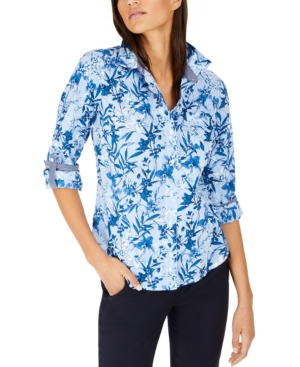 Tommy Hilfiger COTTON FLORAL-PRINT SHIRT