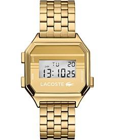 Men's Digital Berlin Gold-Tone Stainless Steel Bracelet Watch 34mm