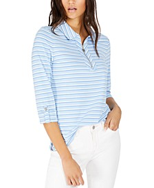Striped Zip-Front Top