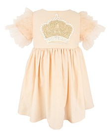 Baby Girl Crown Applique Tulle Dress