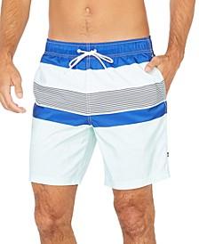 "Men's Striped 8"" Swim Trunks"