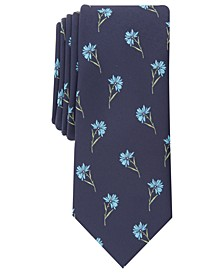 Men's Field of Daisies Skinny Tie, Created for Macy's