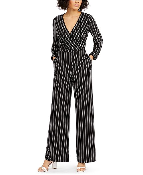 Inc International Concepts Inc V Neck Striped Jumpsuit Created For Macy S Reviews Pants Leggings Women Macy S