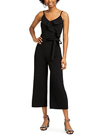 Ruffled Faux-Wrap Jumpsuit