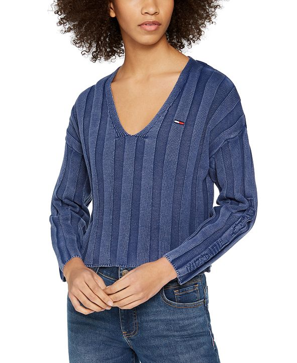 Tommy Jeans Ribbed Cropped Sweater