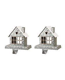 Galvanized House Stocking Holder 2 Piece