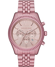 Women's Chronograph Lexington Pink Aluminum Bracelet Watch 44mm