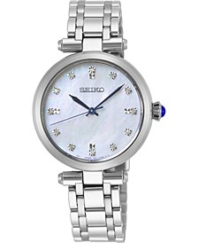 Women's Diamond-Accent Stainless Steel Bracelet Watch 30mm