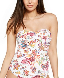 Jacobean Floral Tankini Top