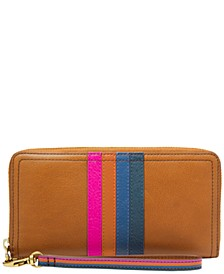 Logan Leather Zip Around Wallet