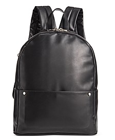 Men's Faux-Leather Backpack