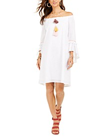 Cotton Off-The-Shoulder Dress, Created for Macy's