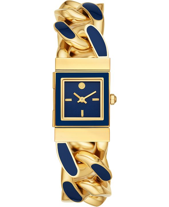 Tory Burch Women's Tilda Blue & Gold-Tone Stainless Steel Bracelet Watch 22mm