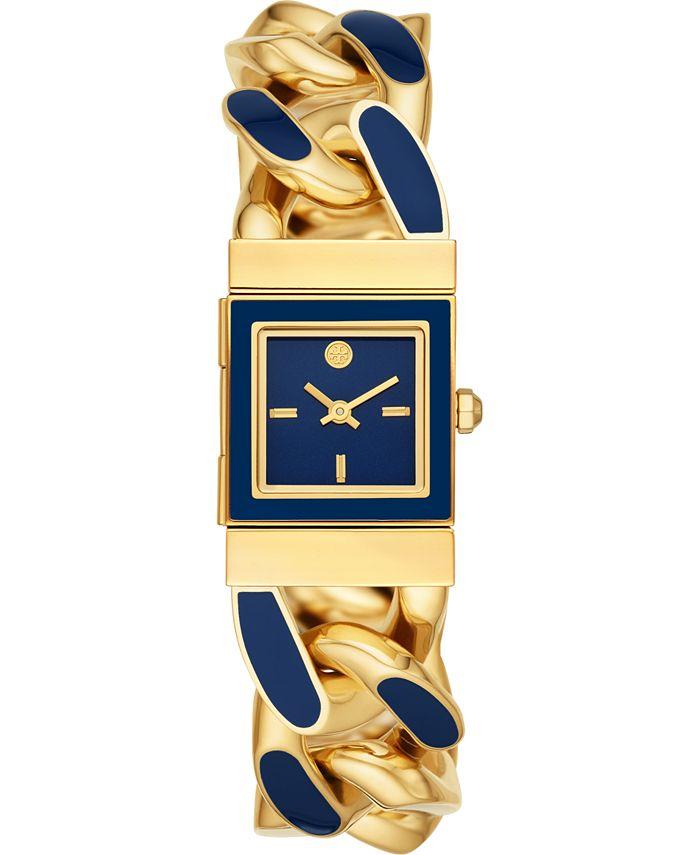 Tory Burch - Women's Tilda Blue & Gold-Tone Stainless Steel Bracelet Watch 22mm