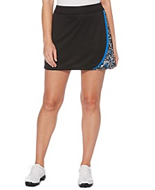 Printed Colorblocked Golf Skort