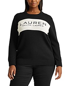 Plus-Size Logo Cotton Sweater