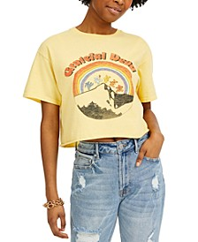 Cotton Grateful Dead Graphic Cropped T-Shirt