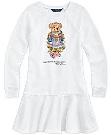 Big Girls Madras Bear Terry Dress