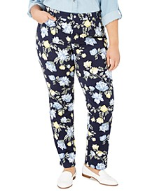 Plus Size Print Straight-Leg Jeans, Created for Macy's