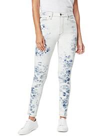 Bella Printed Skinny Ankle Jeans