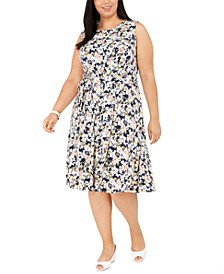 Plus Size Sleeveless Midi Dress, Created for Macy's