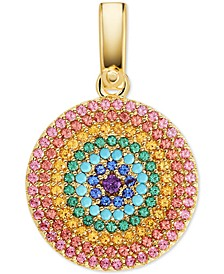 14k Gold-Plated Multicolor Crystal Charm