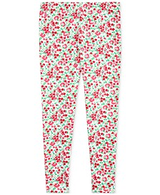 Big Girls Floral Stretch Jersey Leggings