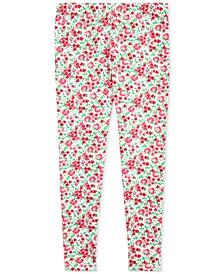 폴로 랄프로렌 걸즈 레깅스 Polo Ralph Lauren Big Girls Floral Stretch Jersey Leggings,Pink Multi