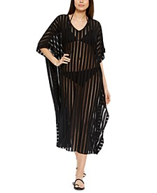 Striped Maxi Caftan Cover-Up