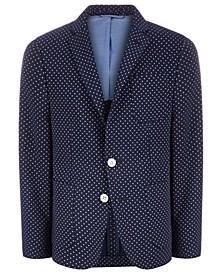 로렌 랄프로렌 보이즈 코트 Lauren Ralph Lauren Big Boys Classic-Fit Navy Blue/White Dot Sport Coat,Navy