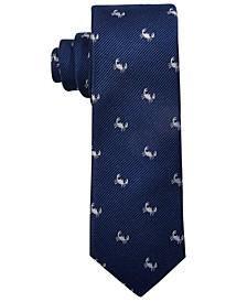Big Boys Navy Blue Baby Crab Silk Tie