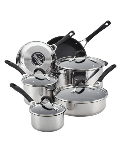 Circulon Innovatum Stainless Steel Nonstick 10-Pc. Cookware Set