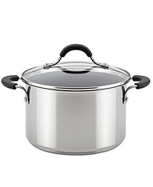 Innovatum Stainless Steel Wide Nonstick 4-Qt. Sauce pot with Glass Lid
