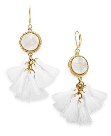 INC Gold-Tone Tortoise-Look Multi-Tassel Drop Earrings, Created for Macy's