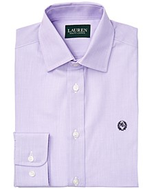 Big Boys Classic-Fit Lilac Purple End-On-End Solid Dress Shirt